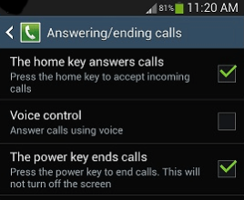 Using your Home Key to Answer phone calls