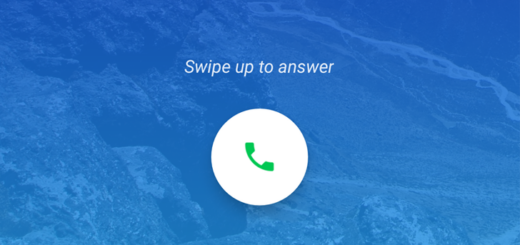 change swipe to answer android