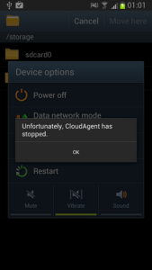 Fix 'CloudAgent Has Stopped' error on Android
