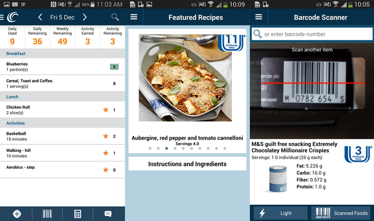 Weight Watchers Barcode Scanner app for Android mobile