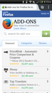 home button for firefox android