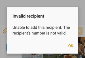 Error Invalid Number Text Android
