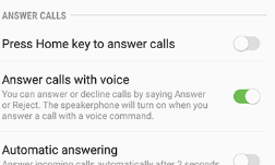 Answering phones by using voices
