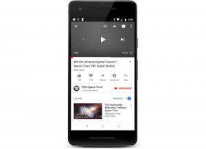 Youtube app appears black screen on Android phone