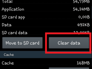 Clear Launcher cache and data