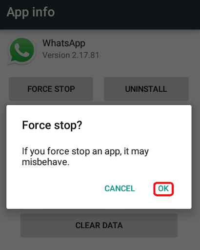 Force stop