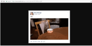 GIF image on Facebook