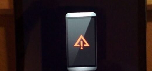 red triangle with exclamation point android recover