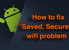 wifi saved secured but not connecting android